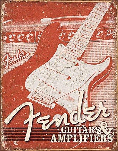 Froy Fender Gitaren Versterkers Muur Tin Teken Retro Iron Poster Schilderen Plaque Metalen Vintage Gepersonaliseerde Kunst Creativiteit Decoratie Ambachten Voor Cafe Bar Garage Home