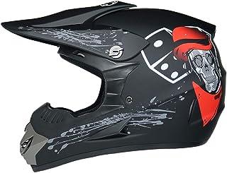Dirt Bike Helmet Off Road ATV Motorcycle MX Kids Motocross Combo Mask Goggles Gloves,Bike ATV Vented Crash Helmet DOT Appr...