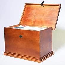 File Box - Wooden - Lockable - Hinged Lid - Hang Files and Folders