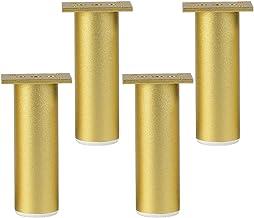 4 stuks tv-kastpoten verstelbare meubelpoten tafelpoten aluminium meubelpoten goud, dikke hoofdkussens beschermen de vloer...