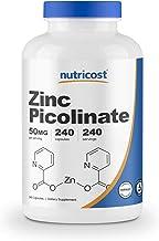 Nutricost Zinc Picolinate 50mg, 240 Vegetarian Capsules - Gluten Free and Non-GMO (240 Caps)