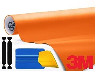 3M 1080 Matte Orange Air-Release Vinyl Wrap Roll Including Toolkit (3ft x 5ft)