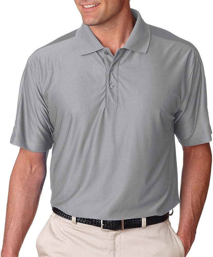 UltraClub Cool & Dry Men's T Elite Polo Shirt, Grey, XX-Large Tall