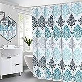 Duschvorhang,180*200cm Wasserdichter Badezimmervorhang,mit 12 Duschvorhängeringen,Wasserwürfel Duschvorhänge,Waschbar Duschvorhang,Duschvorhang Anti-Schimmel,Anti-Bakteriell Badewanne Vorhang