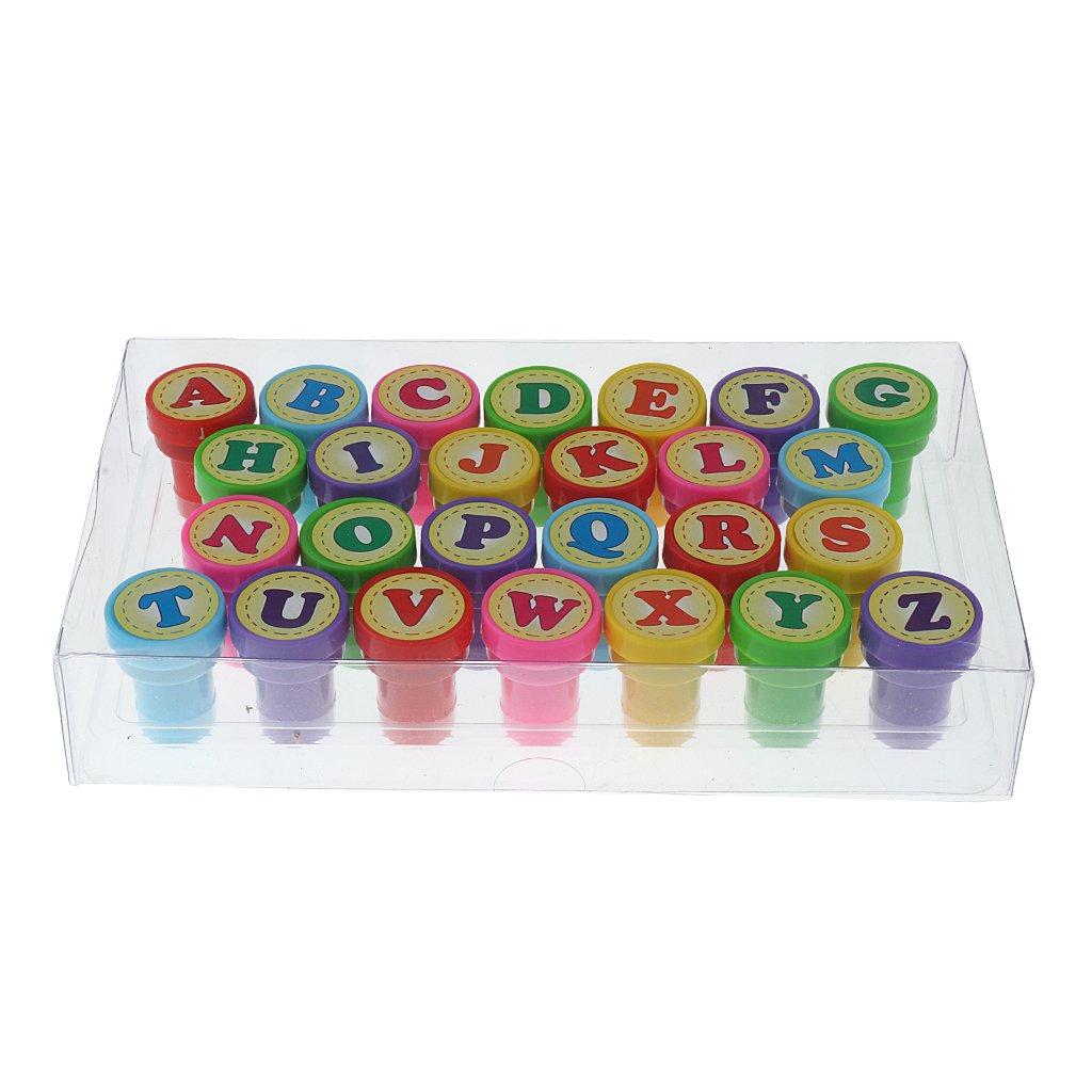 Dcolor26pcs multicolor carta plastic juegete sello para kid: Amazon.es: Juguetes y juegos