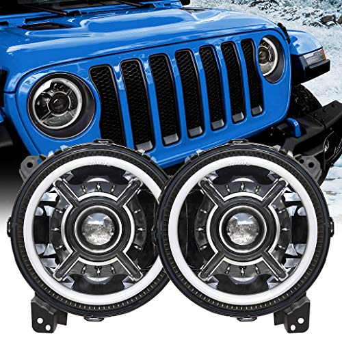 Z-OFFROAD New 9 Inch LED Halo Headlights with...