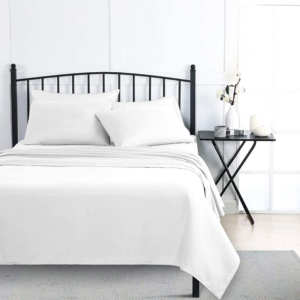 Wellbeing Bed Sheets White Queen Size Pieces OFFicial shop Microfiber 6 Max 72% OFF