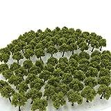 森林 選べる 色 数量 50本 100本 【DauStage】 Nゲージ ジオラマ 鉄道 建築 模型 用 樹木 風景 3㎝ 02 深緑 50本