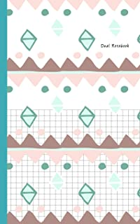 """Dual Notebook: Half Graph Paper 5x5 (four squares per inch 0.20"""" x 0.20"""") And Half Blank Paper on Same Page: Coordinate, Q..."""