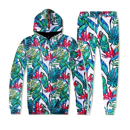 3D Print Herren Hoodie + Sweathosen männer Trainingsanzug Herbst Winter Motive Sweatshirt Tops Hosen Sets Sportanzug CICIYONER