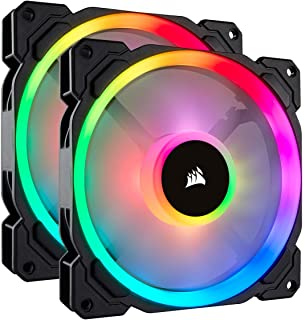 Corsair LL Series LL140 RGB 140mm Dual Light Loop RGB LED PWM Fan 2 Fan Pack with Lighting Node Pro