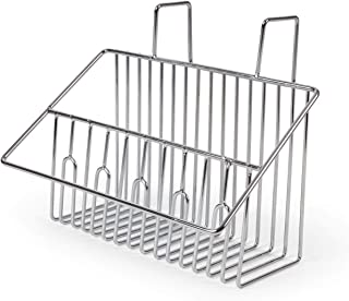 Totally Kitchen Sink Caddy Rack for Sponges, Soap, Scrappers | Draining Basket with Suction Applicator | Rust Resistant Al...