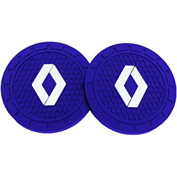 Shenwinfy 2.75 Inch Car Interior Accessories Anti Slip Mat for Land Rover Cup Holder Coaster Auto Interior Decoration Pad Blue, 2 PCS