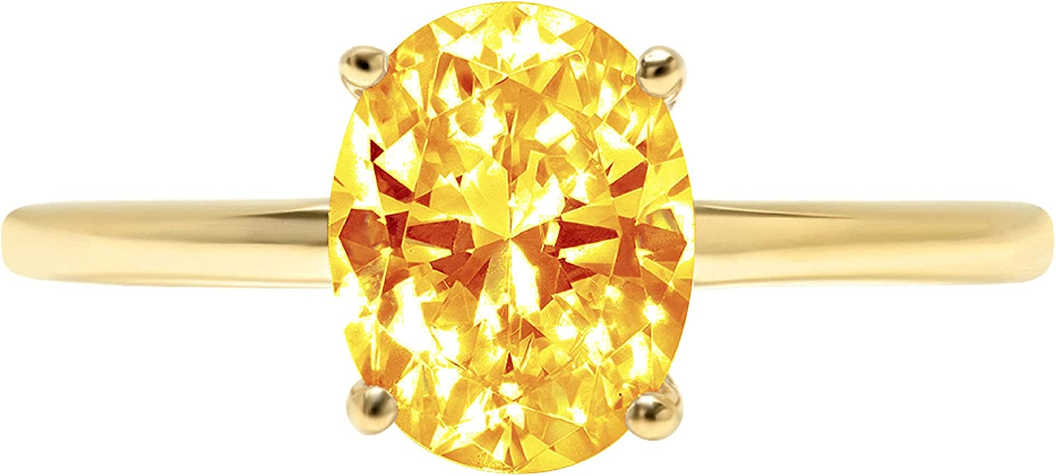 2.6 ct latest Brilliant Oval Cut Yellow Stunning Flawless Solitaire Our shop OFFers the best service Cit