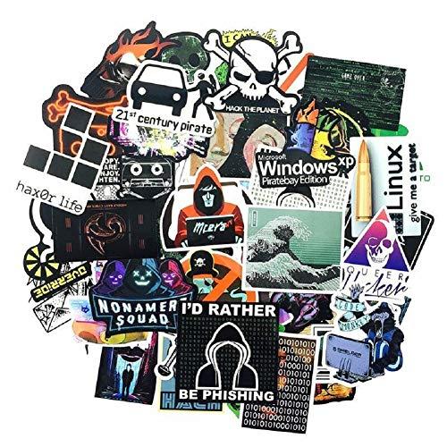 50 Laptop Aufkleber für Entwickler Programmiersprache Geeks Engineers Hackers UK