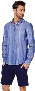 VILEBREQUIN - Camicia Unisex in Misto linoo e Cotone Multi Rayures