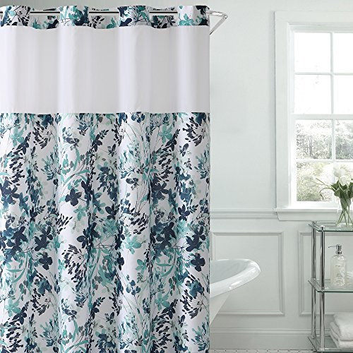 Hookless Water Color Print Shower Curtain