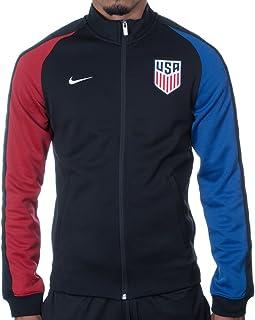 Nike N98 USA Authentic Track Soccer Jacket (Large) Black 8d0b68ca2