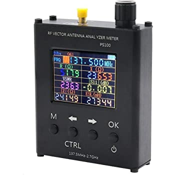 SWR Antenna Analyzer Meter Tester,PS200 Upgraded Version 35MHz 2.7GHz UV RF Vector Impedance ANT Antenna Analyzer SWR Meter Tester N1201SA