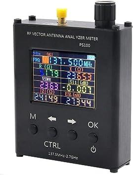 Analizador de antena UV RF Vector Impedancia ANT SWR medidor de antena para 137,5 MHz - 2,7 GHz con radio jamón con carcasa de aleación de aluminio ...