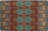 アフリカンスタイルアートスーパーソフトインドアモダンエリアラグふわふわラグダイニングルームホームベッドルームカーペットフロアマットベビーキッズ犬猫80x58インチ-60x39インチ