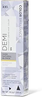 Ion Intensive Shine 6N Dark Natural Blonde Demi Permanent Creme Hair Color 6N Dark Natural Blonde