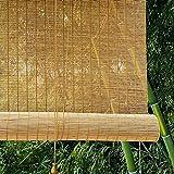 JLXJ Estor Enrollable Persiana Exterior Cortina Enrollable de Bambú, Puerta Ventana Natural Persianas Enrollables de La Sombrilla con Gancho Filtrado de Luz 80cm/100cm/120cm/140cm de Ancho