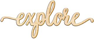 Explore Script Wood Sign Home Decor Wall Art Unfinished Charlie 12