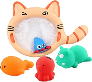 NUOLUX 5Pcs Baby Bath Toys Floting Bathtime Toys Novelty Gifts for Toddlers and Kids
