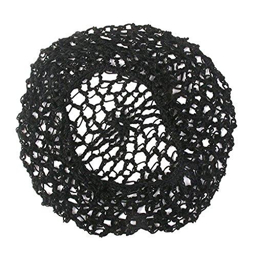 Bigpea 1X Femmes Doux Rayon Snood Cheveux Net Crochet Cap Noir