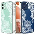 Cutebe Case for iPhone 12,for iPhone 12 Pro, Shockproof Series Hard PC+ TPU Bumper Protective Case for iPhone 12/for iPhone 12 Pro 6.1 Inch 2020 Released(White)