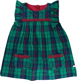 green plaid baby dress