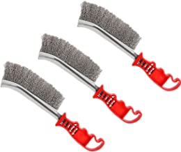 Modell 3pcs Wire Scratch Brushes Set Carbon Steel and Stainless Steel Wire Brush for Automotive, Cleaning Welding Slag and...