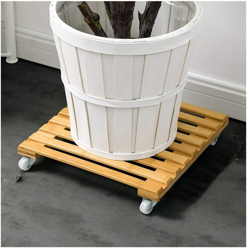 GZHENH Wood Plant Caddy Heavy Duty Metal All stores are sold Al sold out. Rolling Casters with It