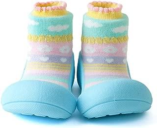 Attipas Attibebe Baby Walker Shoes, Sky Blue, Medium