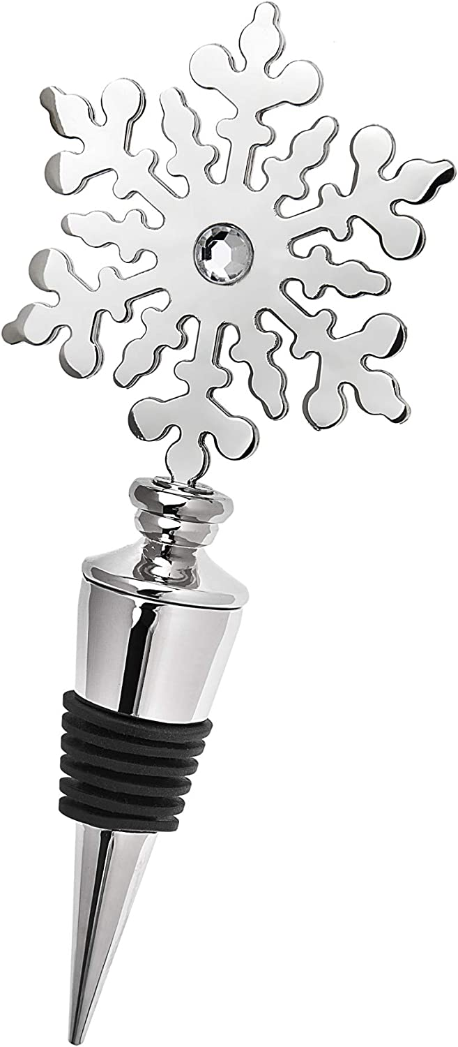 Holiday Sales Wine Bottle Our shop OFFers the best service Stopper by Godinger Snowflake Christmas