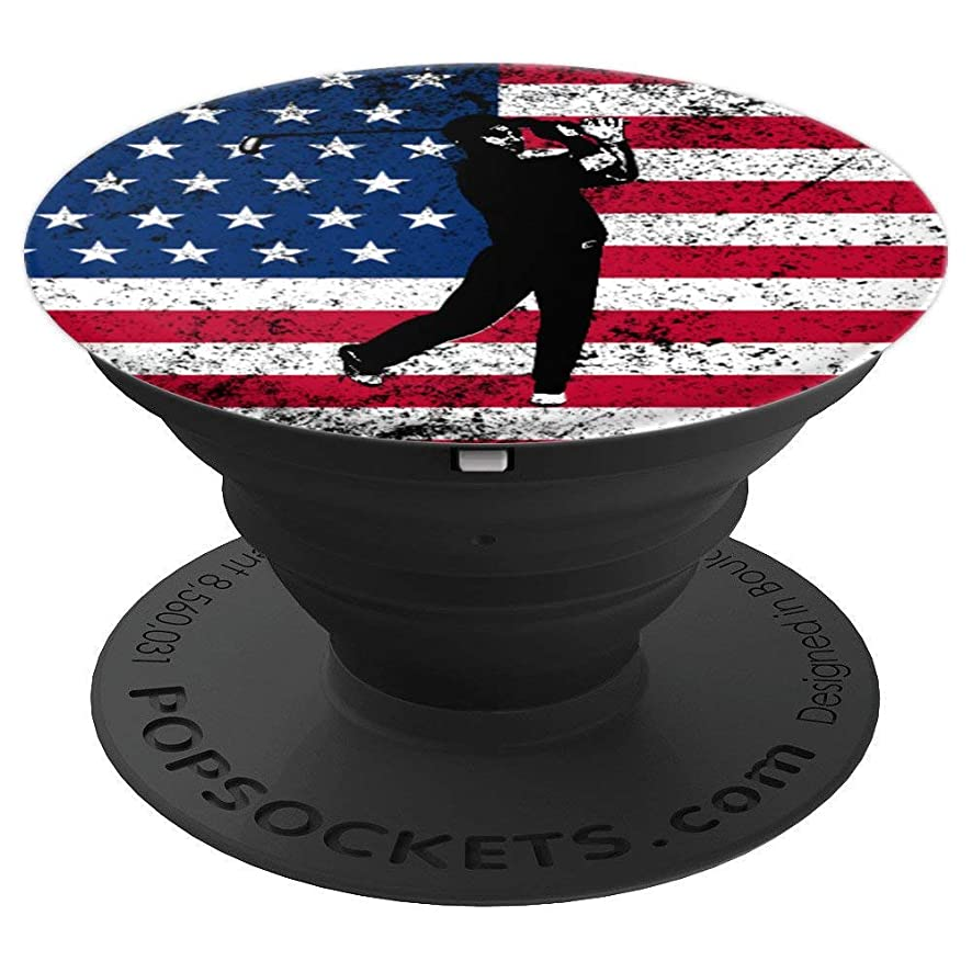 Golf Pop-Socket USA Flag Men Women Birthday Christmas Gift - PopSockets Grip and Stand for Phones and Tablets