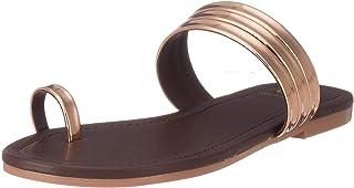 Carlton London Women's Grey Fashion Sandals