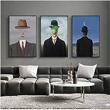 Varias Medidas 38, 50 Lienzo de Tela Bastidor de Madera de 3 cm Impresi/ón en Alta resoluci/ón Fabricado en Espa/ña Cuadro Lienzo El Hijo del Hombre de Rene Magritte