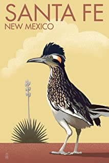 Santa Fe, New Mexico - Roadrunner - Lithograph (12x18 Art Print, Wall Decor Travel Poster)