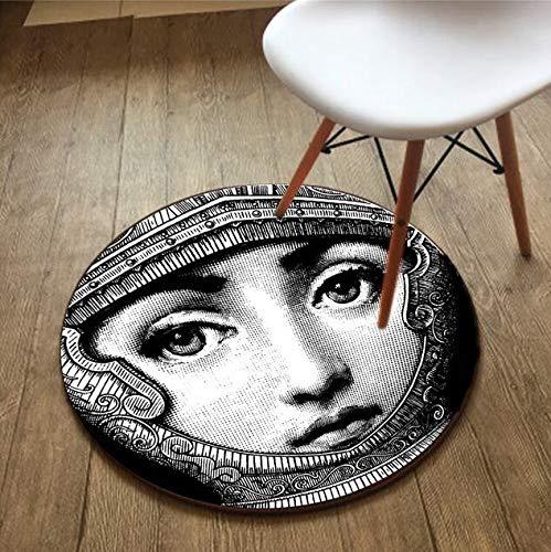 GRENSS Mode Carpet runde Teppich Wohnzimmer fußmatte Decor bodenmatte Klassische Lisa Gesicht Yoga tapete Portrait Decken 05485,60x60 cm, 10