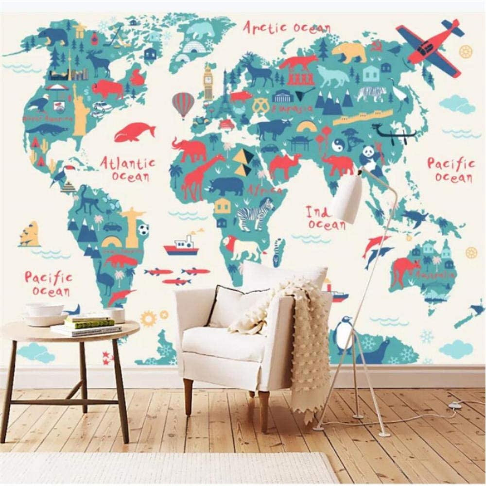 Max 60% OFF Clhhsy Customized Large Mural Cartoon Map World Version Very popular! Children