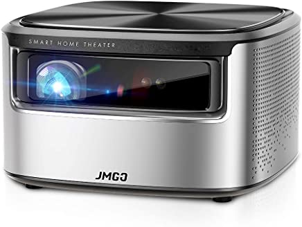"""JMGO N7 Native 1080P Full HD 4K Projector, 1300 ANSI lm, HDR 10, Auto Focus, Keystone Correction,DLP, Dolby, 3D, WiFi, Bluetooth Speaker, Smart Home Cinema Video Projector, 300"""" Picture"""