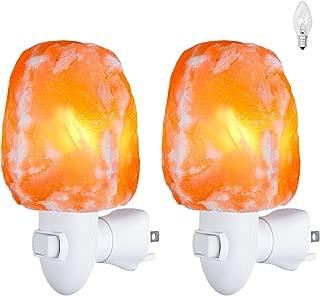 Himalayan Salt Lamp, Salt Wall Lamp Plug in,Mini Hand Carved Crystal Night Light with 4 Bulbs 7W Safety Hand Carved Night Light Air Purifying, Bedroom Lighting, UL Approved Wall Plug, 2 Pack