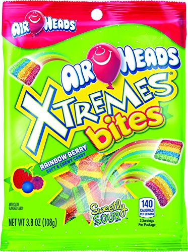 Airheads Xtremes Bites Rainbow Berry Peg Bag, 3.8 oz (00073390678371f)