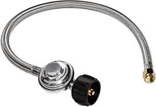 DOZYANT 2 Feet Universal QCC1 Low Pressure Propane Regulator Replacement with Stainless Steel Braided Hose for Most LP Gas Grill, Heater and Fire Pit Table, 3/8