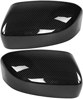 Cuque Rearview Mirror Cover, 1 Pair Rear View Mirror Housing Cap Carbon Fiber Style Side Wing Shell Trim ABS Exterior Mirr...