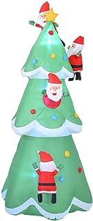 Modelo De Navidad De Árbol Inflable De 240 Cm Para Decoración Interior Al Aire Libre, Decoración De Patio Inflable De Navidad, Decoraciones Navideñas De Árbol De Navidad Iluminado Con Luces LED Para
