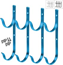 Gray Bunny Swimming Pool Aluminum Pole Hanger Set, Blue, 2-Pack (4 Hooks), for Telescoping Poles, Leaf Rakes, Skimmers, Nets, Brushes, Vacuum Hoses and More!