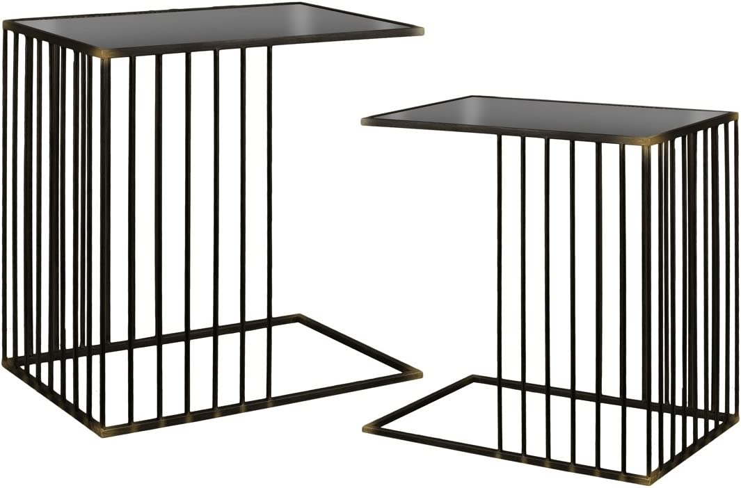 Urban Trends Nesting Accent C-Table Top Mirror and with Tampa Mall Gorgeous Rectangu